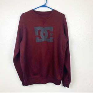 DC Burgundy Men's Pullover Sweater